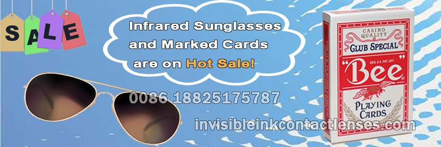 infrared sunglasses and marked cards